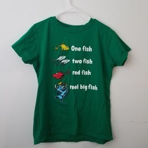 🔥CLEARANCE🔥Graphic tee Dr. Seuss fish